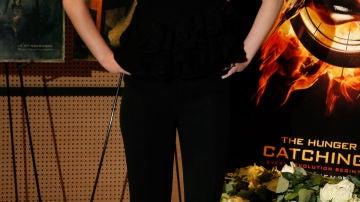 La actriz ha presentado 'Los Juegos del hambre: En llamas'
