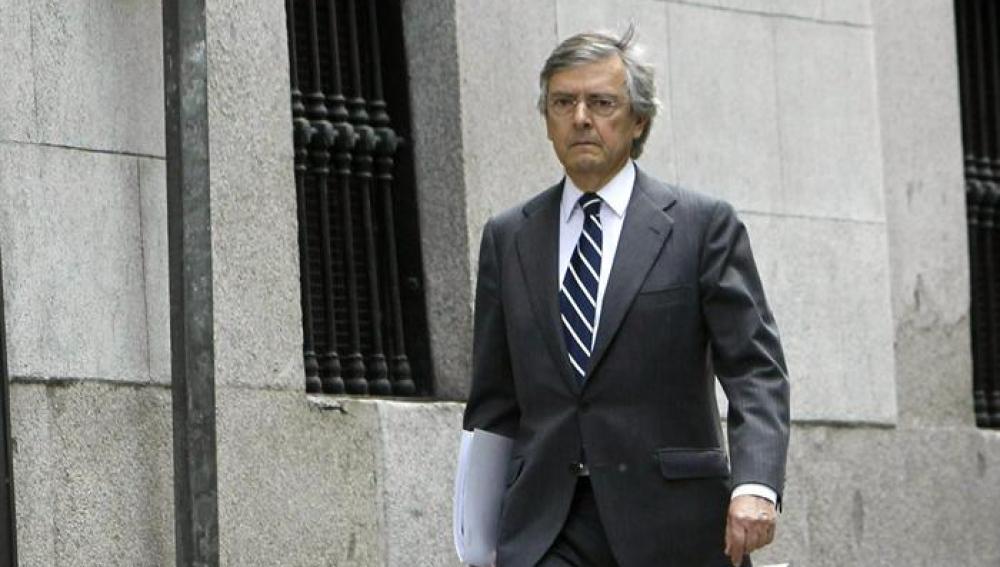 Jorge Trías a su llegada a la Audiencia Nacional