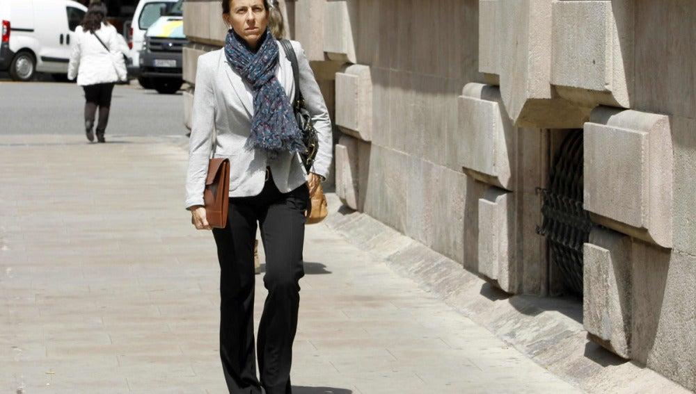 Anna Vidal llega al Tribunal Superior de Justicia de Cataluña