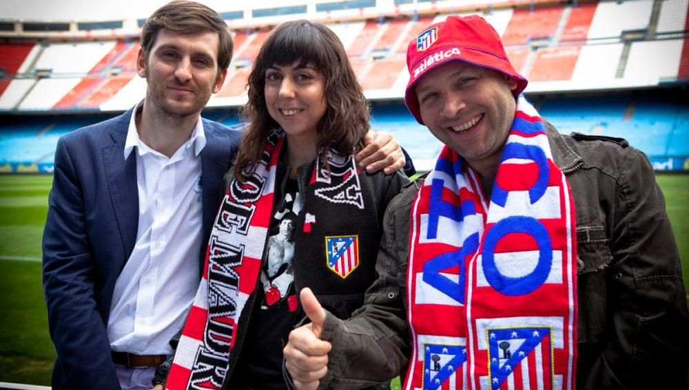 Raúl Arévalo, Carmen Ruiz y Vicente Romero