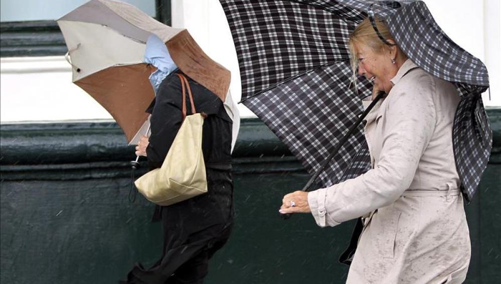 Vientos y lluvias en toda la península
