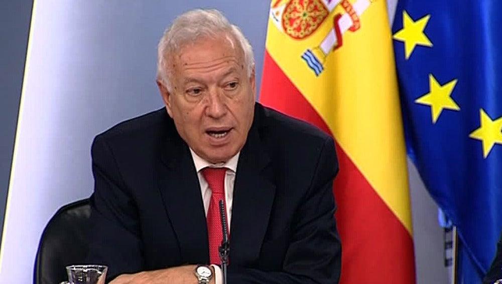 García- Margallo, en la rueda de prensa del Consejo de Ministros