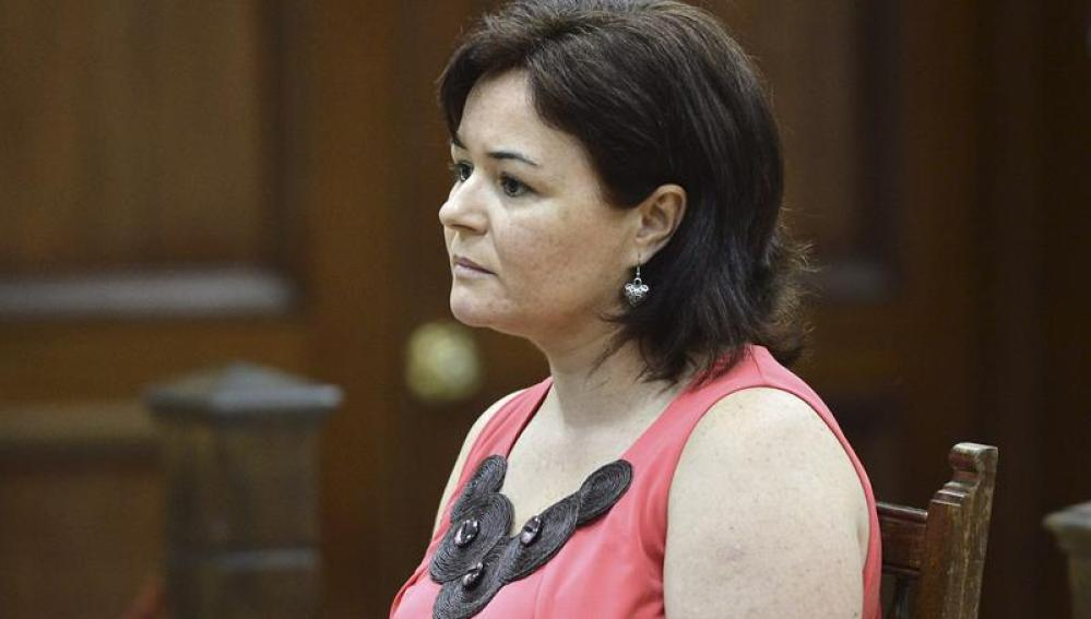 Ruth Ortiz, durante el juicio