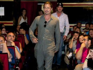 Aparición sorpresa de Brad Pitt en un pase especial de 'World War Z' en Madrid
