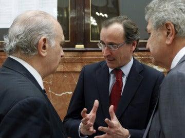 Alfonso Alonso, Jesús Posada y Jorge Fernández Díaz