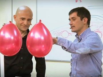 Lobato, Cuquerella y unos globos