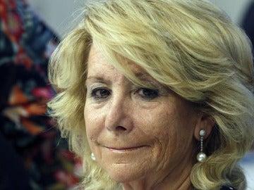 La presidente del PP de Madrid, Esperanza Aguirre