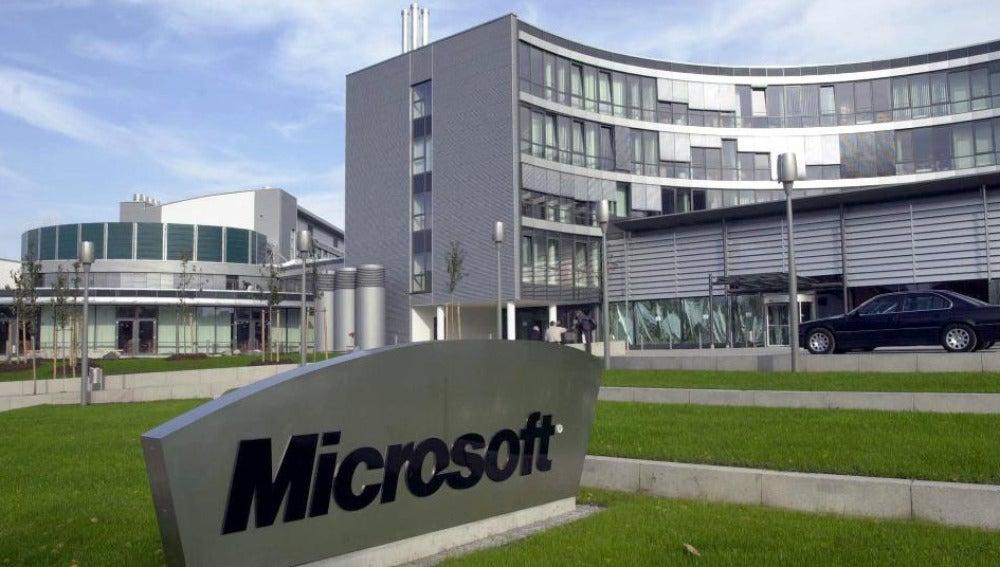 Exterior de la sede de Microsoft