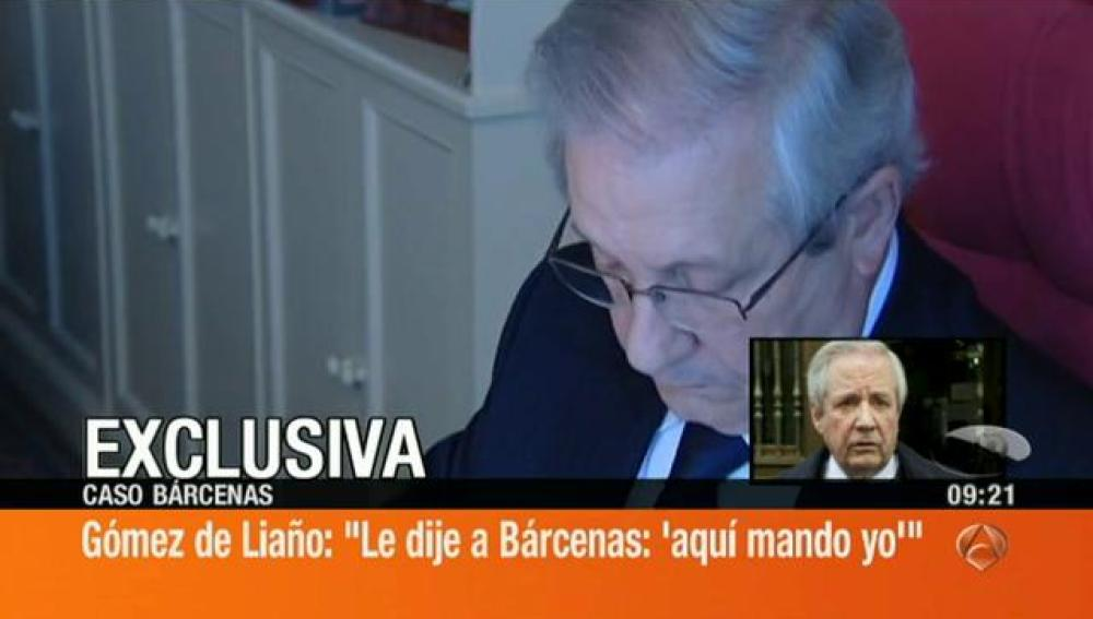 "Javier Goméz de Liaño: ""Le dije a Bárcenas 'aquí mando yo'"""