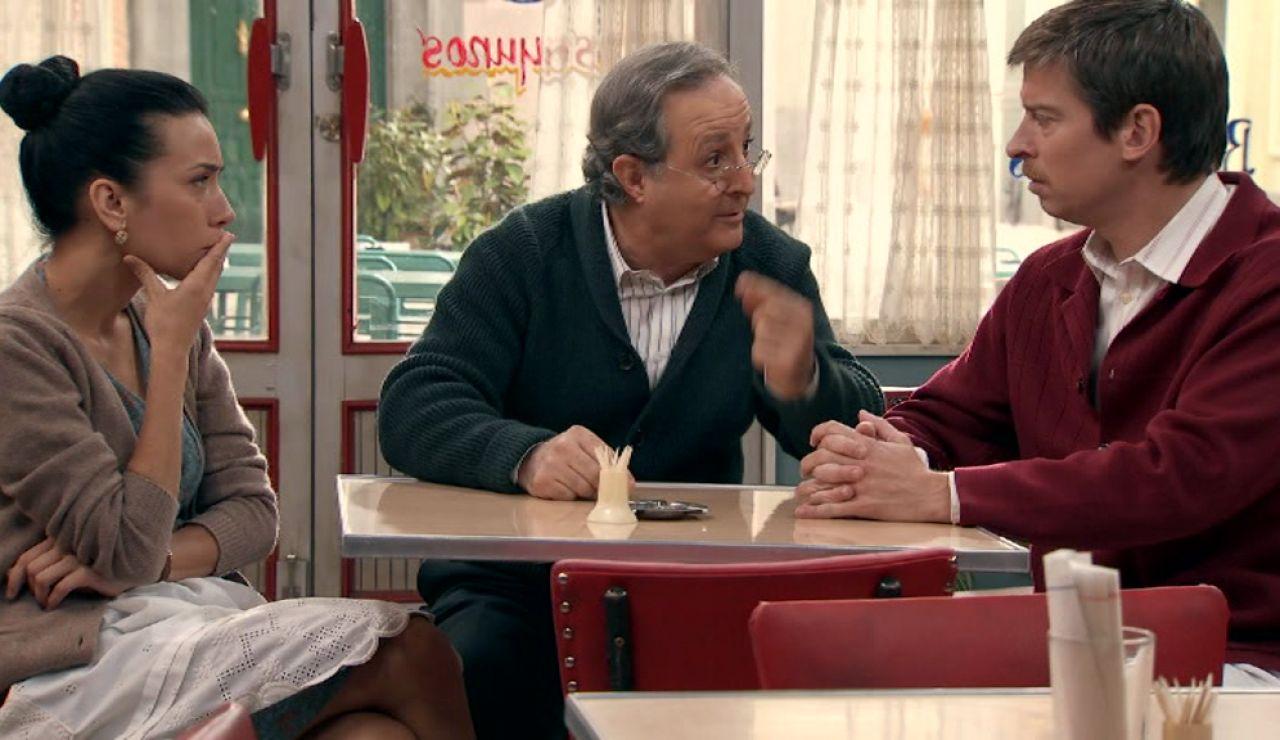 Pelayo confiesa a Marcelino y Manolita quien es Amparo