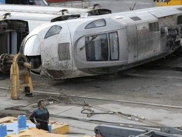 Una de las piezas del convoy que formaba el tren Alvia