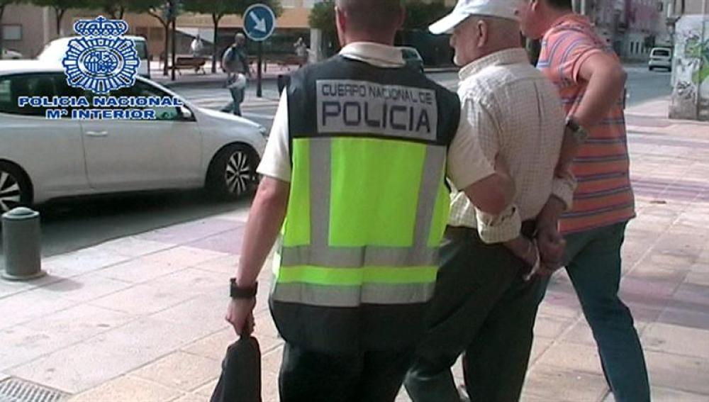 Detención del pederasta por parte de la Policía