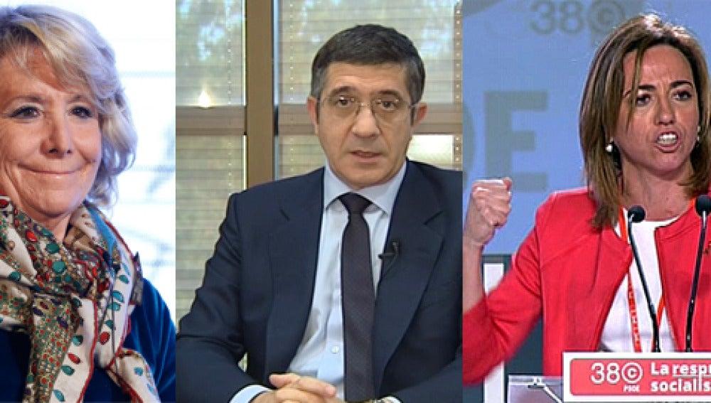 Esperanza Aguirre, Patxi López y Chacón, los mejor valorados