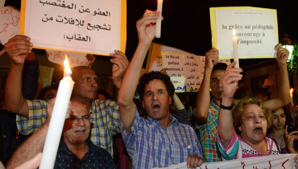 Protestas por los indultos en Marruecos