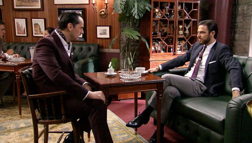 Rubén y Diego discutiendo