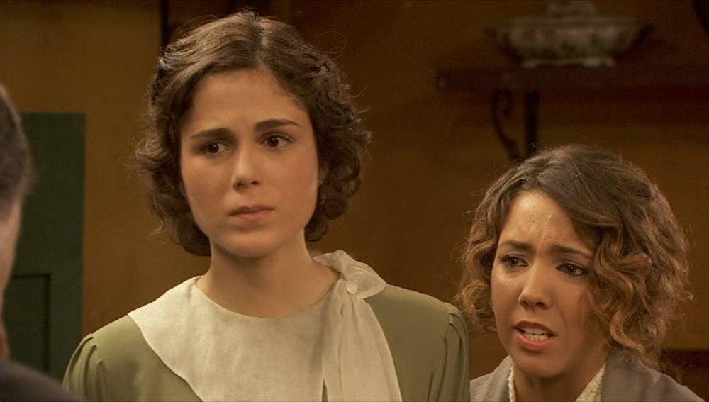 Alfonso, Emilia y Nieves se enfrentan a Don Pablo