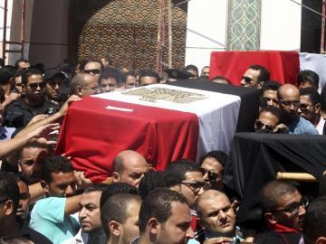 Funerales por los muertos en Egipto