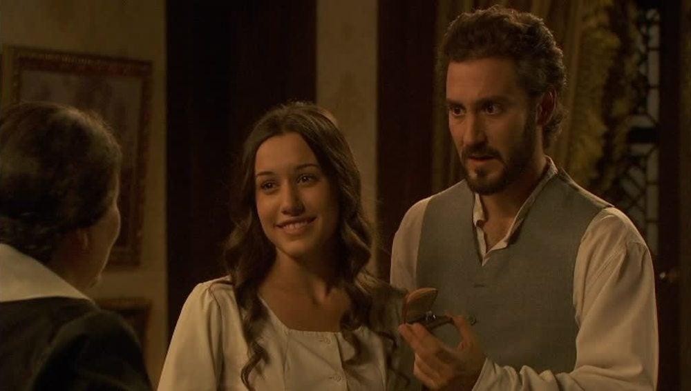 Tristán y Aurora han comprado el anillo para Candela