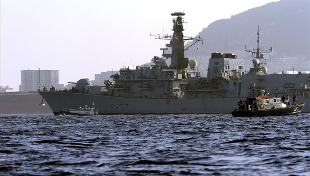 Recala en la base naval de Gibraltar la fragata 'HMS Westminster'