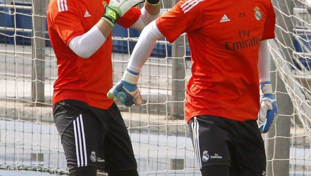 Casillas y Diego López, en Valdebebas