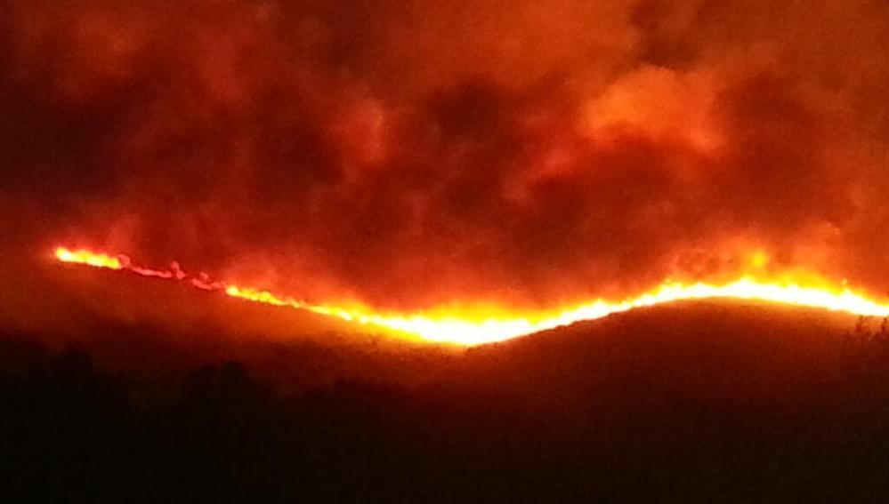 Incendio forestal en Mallorca