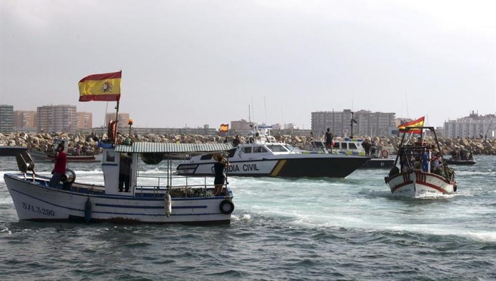 Barcos pesqueros en Gibraltar