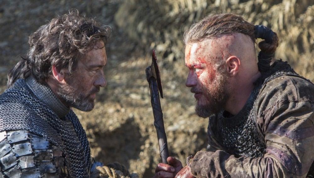 Ragnar y el hermano del Rey Aelle
