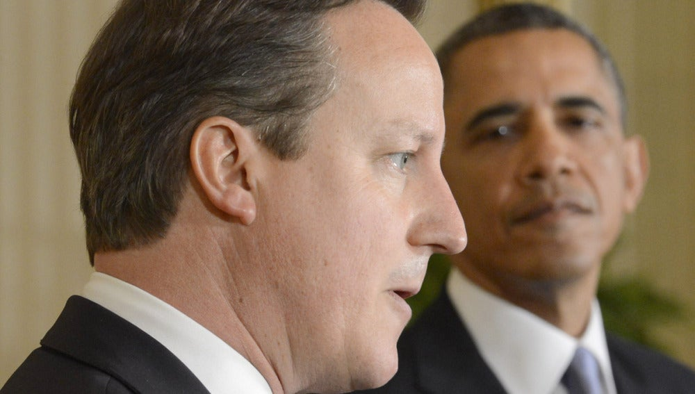 Barack Obama y David Cameron