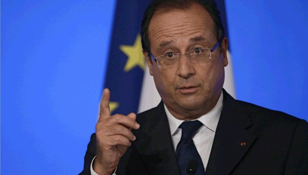 Comparecencia pública de Hollande