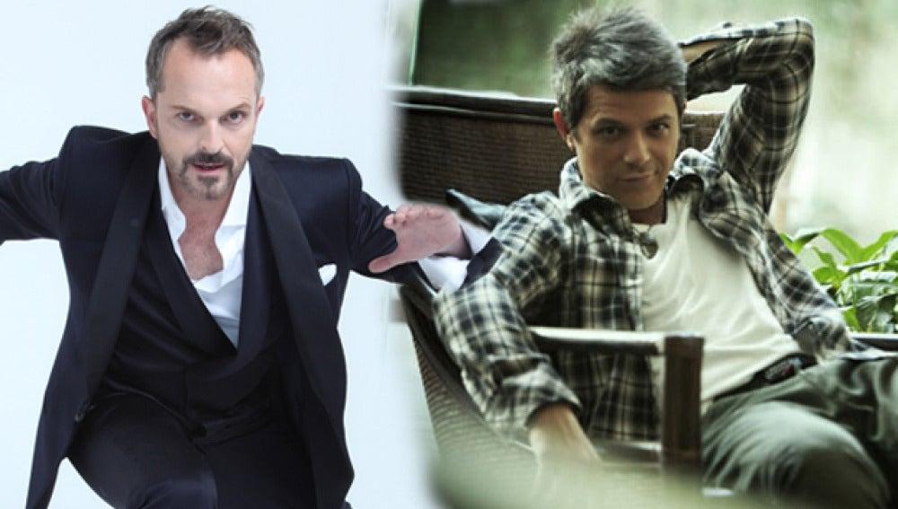 Miguel Bosé y Alejandro Sanz
