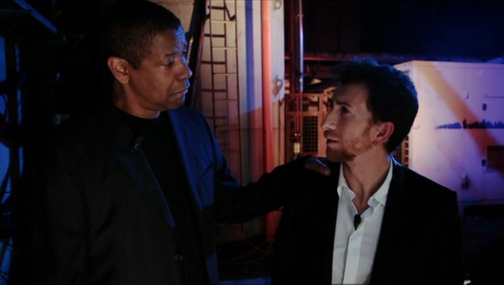 Denzel Washington y Pablo Motos