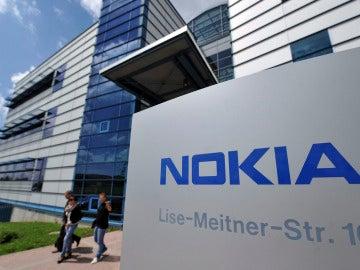 Logo de la compañía finlandesa de telefonía móvil Nokia.