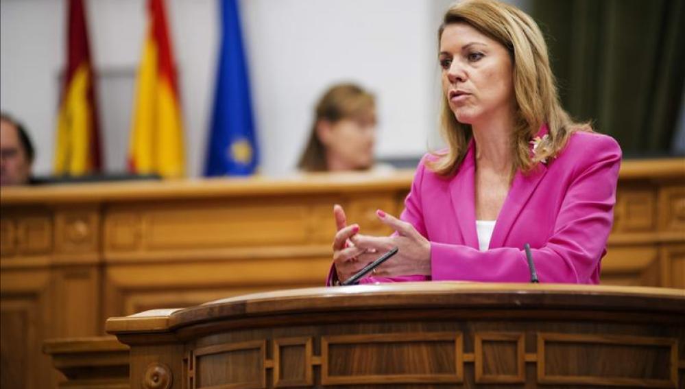 La presidenta regional, María Dolores de Cospedal,