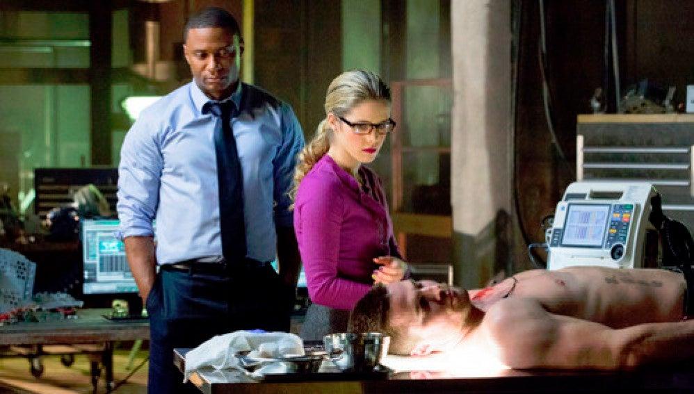 Diggle, Felicity y Oliver