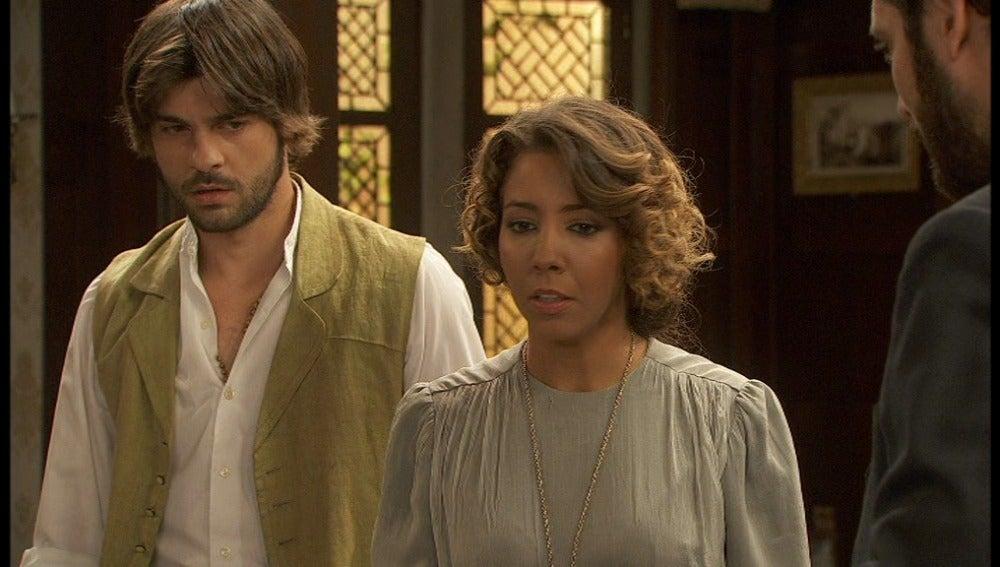 Gonzalo, Emilia y Tristán