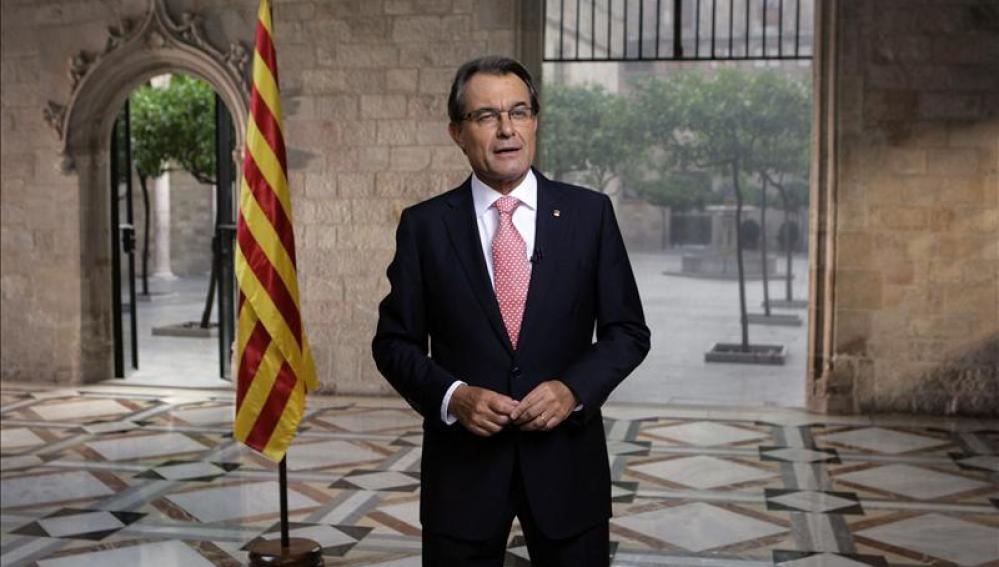 El presidente del Gobierno catalán, Artur Mas