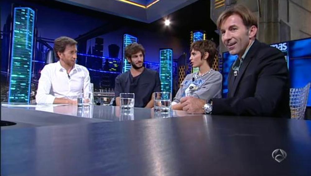 Quim, Verónica y Antonio con Trancas y Barrancas