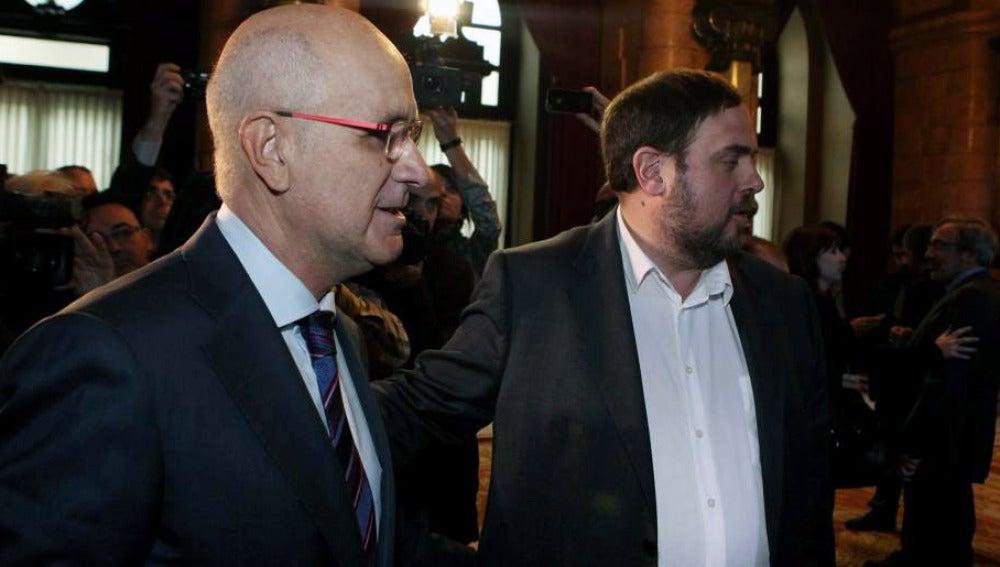 Josep Antoni Duran I Lleida y Oriol Junqueras