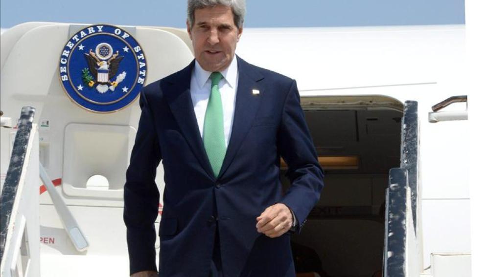 El secretario de Estado de EEUU, John Kerry, llega a Jerusalén