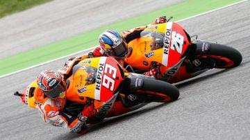 Márquez adelanta a Pedrosa en el GP de San Marino de Moto GP