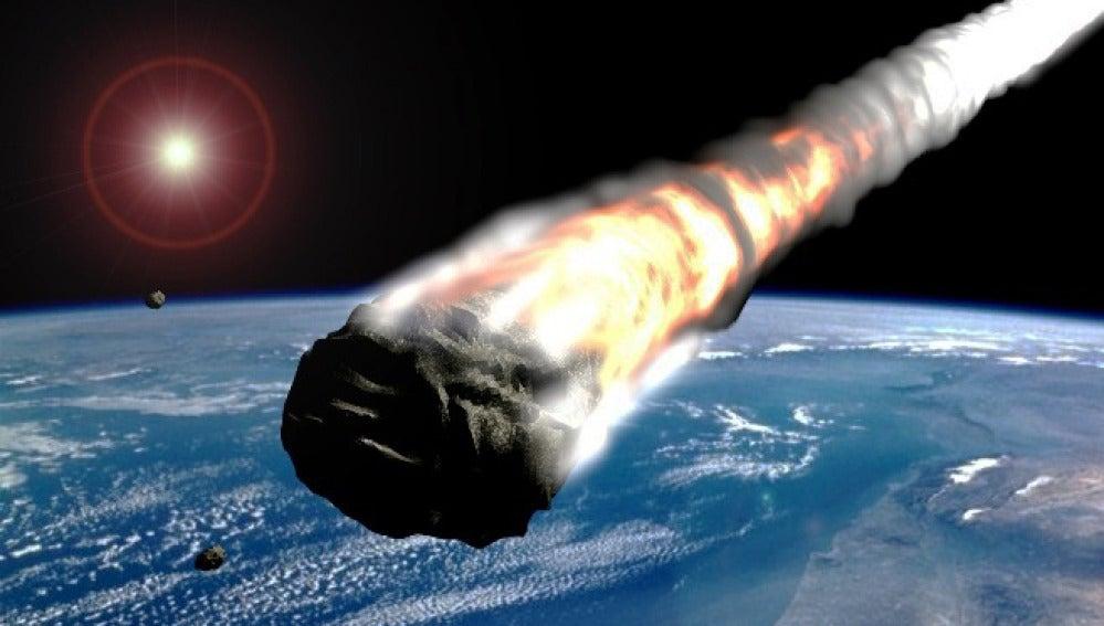 Asteroide entre la Tierra y la Luna.