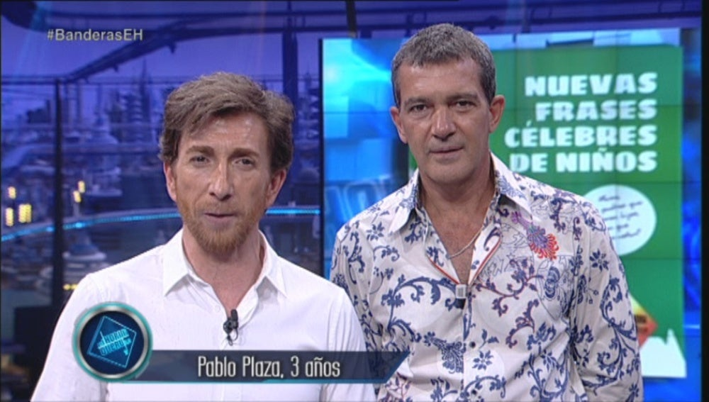 Pablo Motos y Antonio Banderas en El Hormiguero 3.0
