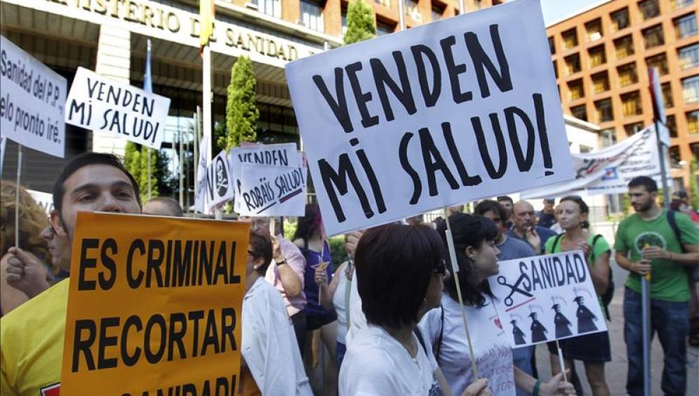 Manifestación por la sanidad pública madrileña