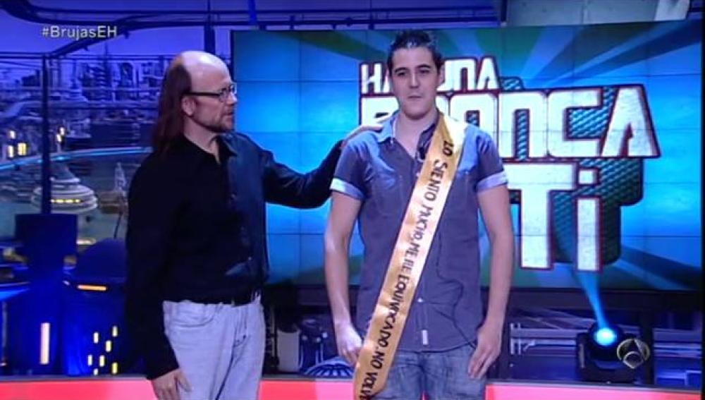 Ismael recibe una bronca de Santiago Segura