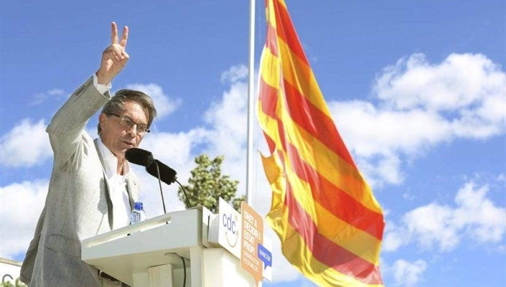 Artur Mas en un acto en Cataluña