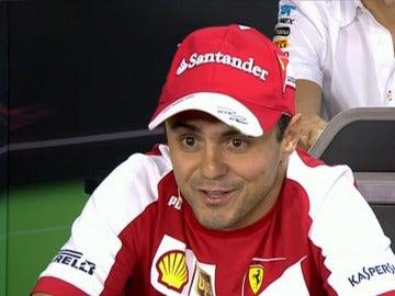 Massa en la rueda de prensa de la FIA
