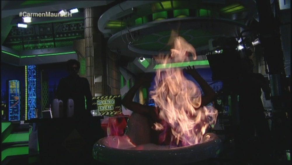Marron en llamas
