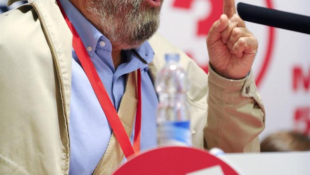 Cándido Méndez en la clausura del XIII congreso regional de Murcia