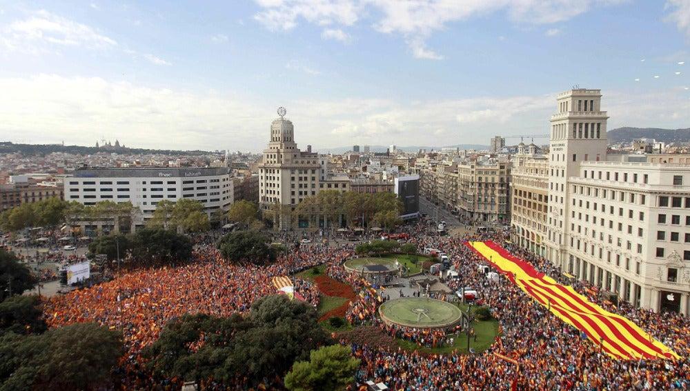 España y Cataluña, unidas el 12 de octubre