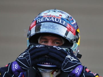 Sebastian Vettel festeja su triunfo